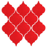 Clay Arabesque Malaga Ceramic Tile - Tomato
