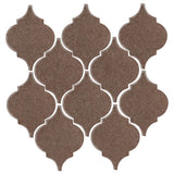 Clay Arabesque Malaga Ceramic Tile - Winter Gray Matte