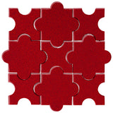 Clay Arabesque Segovia Cherry Red