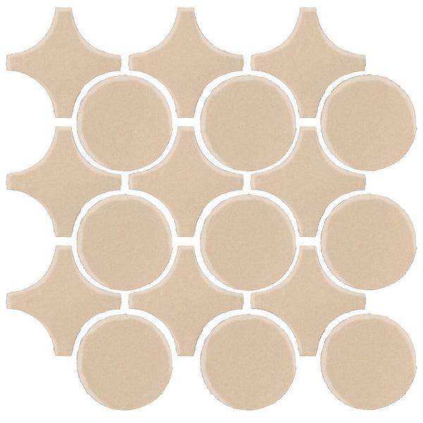 Clay Arabesque Sintra Glazed Ceramic Tile - Almond