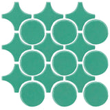 Clay Arabesque Sintra Glazed Ceramic Tile - Aqua Green