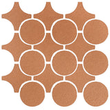 Clay Arabesque Sintra Glazed Ceramic Tile - Beechnut
