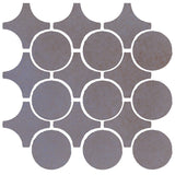 Clay Arabesque Sintra Glazed Ceramic Tile - Black & Blue