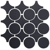 Clay Arabesque Sintra Glazed Ceramic Tile - Black Diamond