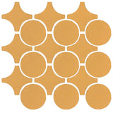 Clay Arabesque Sintra Glazed Ceramic Tile - Caramel matte