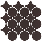 Clay Arabesque Sintra Glazed Ceramic Tile - Charcoal matte