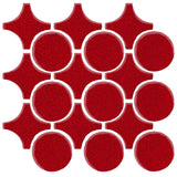 Clay Arabesque Sintra Glazed Ceramic Tile - Cherry Red