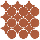 Clay Arabesque Sintra Glazed Ceramic Tile - Chocolate