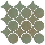 Clay Arabesque Sintra Glazed Ceramic Tile - Chrome