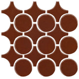 Clay Arabesque Sintra Glazed Ceramic Tile - Cinnamon