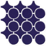 Clay Arabesque Sintra Glazed Ceramic Tile - Cobalt