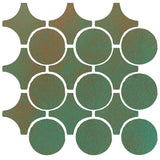 Clay Arabesque Sintra Glazed Ceramic Tile - Copper
