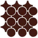 Clay Arabesque Sintra Glazed Ceramic Tile - Dark Roast