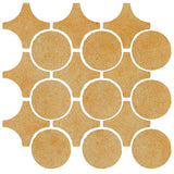 Clay Arabesque Sintra Glazed Ceramic Tile - Dijon Mustard Matte