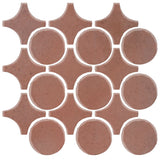 Clay Arabesque Sintra Glazed Ceramic Tile - Eggplant