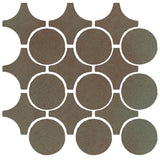 Clay Arabesque Sintra Glazed Ceramic Tile - Elder Green