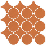 Clay Arabesque Sintra Glazed Ceramic Tile - Fawn Brown Matte