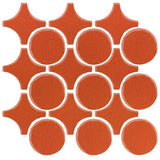 Clay Arabesque Sintra Glazed Ceramic Tile - Hazard Orange