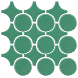 Clay Arabesque Sintra Glazed Ceramic Tile - Juniper Breeze