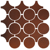 Clay Arabesque Sintra Glazed Ceramic Tile - Leather