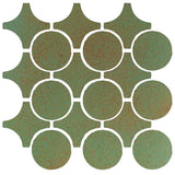Clay Arabesque Sintra Glazed Ceramic Tile - Light Copper