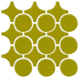 Clay Arabesque Sintra Glazed Ceramic Tile - Lime Green