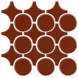 Clay Arabesque Sintra Glazed Ceramic Tile - Mahogany