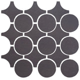 Clay Arabesque Sintra Glazed Ceramic Tile - May Gray