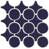 Clay Arabesque Sintra Glazed Ceramic Tile - Midnight Blue