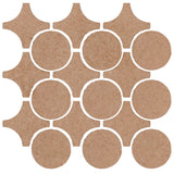 Clay Arabesque Sintra Glazed Ceramic Tile - Mushroom Matte