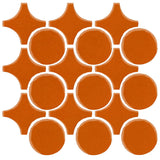 Clay Arabesque Sintra Glazed Ceramic Tile - Nutmeg