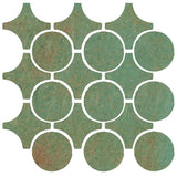 Clay Arabesque Sintra Glazed Ceramic Tile - Patina Matte