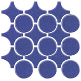 Clay Arabesque Sintra Glazed Ceramic Tile - Periwinkle