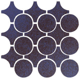 Clay Arabesque Sintra Glazed Ceramic Tile - Persian Blue