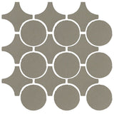 Clay Arabesque Sintra Glazed Ceramic Tile - Pewter Matte