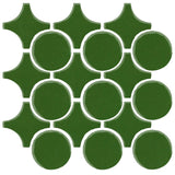 Clay Arabesque Sintra Glazed Ceramic Tile - Pine Green