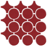 Clay Arabesque Sintra Glazed Ceramic Tile - Plum