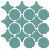 Clay Arabesque Sintra Glazed Ceramic Tile - Powder Blue