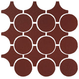 Clay Arabesque Sintra Glazed Ceramic Tile - Pueblo Red