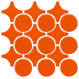 Clay Arabesque Sintra Glazed Ceramic Tile - Pumpkin