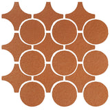 Clay Arabesque Sintra Glazed Ceramic Tile - Red Iron