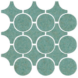 Clay Arabesque Sintra Glazed Ceramic Tile - Sea Foam Green Matte