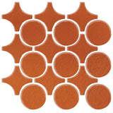Clay Arabesque Sintra Glazed Ceramic Tile - Spanish Brown