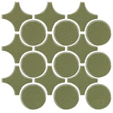 Clay Arabesque Sintra Glazed Ceramic Tile - Spanish Moss