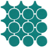 Clay Arabesque Sintra Glazed Ceramic Tile - Teal