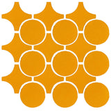 Clay Arabesque Sintra Glazed Ceramic Tile - Valencia Orange Matte