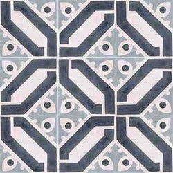 Cuban Heritage Design 100 2A Encaustic Cement Tile Grouping