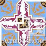 Cuban Heritage Design 110-1C Cross Cement Tile