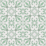 Cuban Heritage Design 230 Encaustic Cement Tile Rug - Misty Jade Colorway