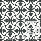 Mission Trebol - A Encaustic Cement Tile rug